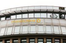 Commerzbank Logo, Bank Comerzbank in Berlin, Kreditinstitute