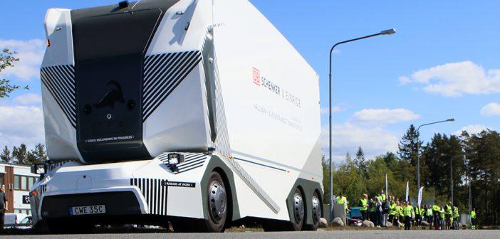 Ohne Fahrer und vollelektrisch: Der LKW T-Pod ist eine Weltneuheit