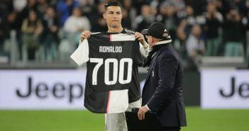 Ronaldo Jubiläumstrikot Juventus 700 Karriere Tor