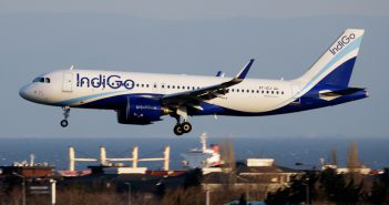 Airbus A320 IndiGo Airlines Landung